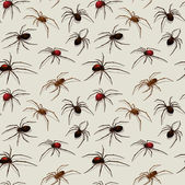 Vector spiders seamless pattern — Stock Vector