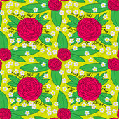 Rose Pattern — Vettoriale Stock