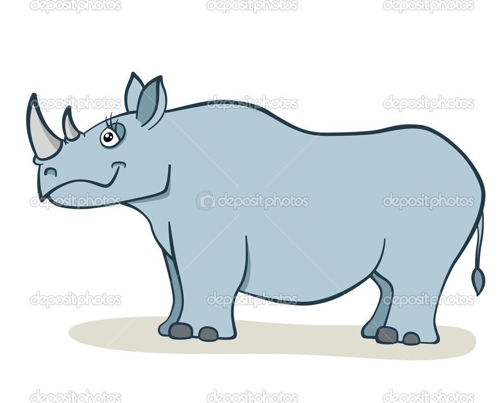 Dibujo Animado Rinoceronte Rinoceronte de Dibujos