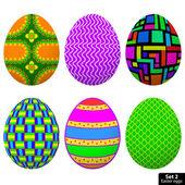 Set Easter Egg — Stock Vector