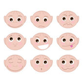 Set Different Emotions — Stock Vector