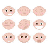 Set Faces Emotions — Stock Vector
