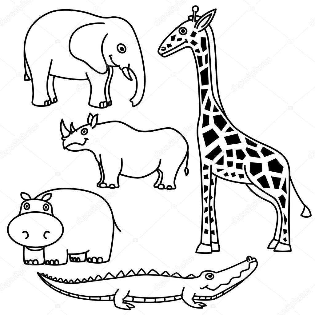 Zoo animal outline