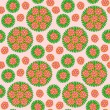 Seamless Pattern with red flower — Stock Vector