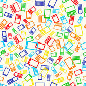 Seamless pattern phone — Stock Vector
