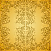 Seamless Vintage Gold Pattern — Stock Vector