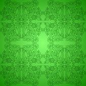 Seamless Vintage Green Pattern — Stock Vector