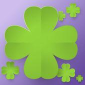 Abstract four leaf clover — Stock Vector