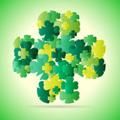 Abstract green four leaf — Stock Vector