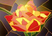 Витражные стекла тюльпан — Cтоковый вектор