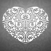 Abstract white heart — 图库矢量图片