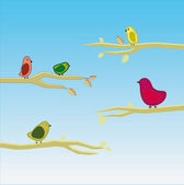 Vector de aves set 5 — Vector de stock