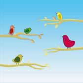Vector bird set 5 — Stock Vector