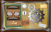Stim-punk design element — Stock Vector
