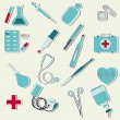 Medical set - Stock Vector