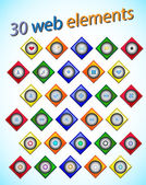 Web elements — Stock Vector