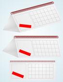 Desktop calendar. Vector illustration. — Stock Vector