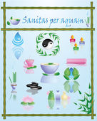 Sanitas per aquam — Stock Vector