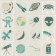 Space vector icon set — Stock Vector