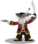 Pirate vector — Stock Vector