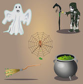 Halloween vector set — Stock Vector