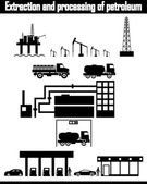 Oil production equipment vector — Stock Vector