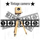 Retro camera vector — Stock Vector