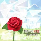 Origami rose vector — Stock Vector