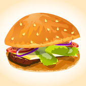 Hamburger icon vector — Stock Vector