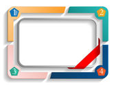 Frame with numbers vector — Stock Vector