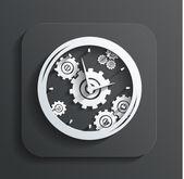 Clock icon vector — Stock Vector
