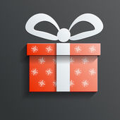 Christmas Gift icon vector with shadow — Stock Vector