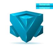 Abstract blue cube vector — Stock Vector