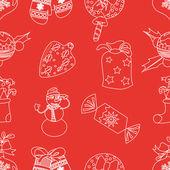 Noel dikişsiz desen vektör — Stok Vektör