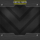 Metal mesh texture vector — Stock Vector