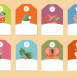 Set of christmas icons vector — Stockvectorbeeld