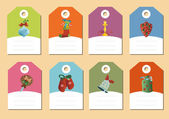 Set of christmas icons vector — Cтоковый вектор