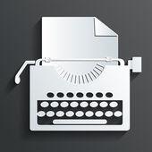 Typewriter vector — Stock Vector