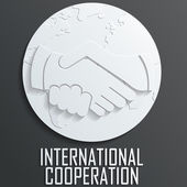 Handshake icon vector — Stock Vector