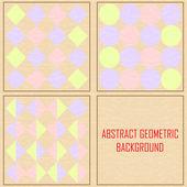 Abstract geometric Vintage vector background — Vector de stock
