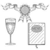 Na białym tle menu pierwszej klasy sztuka wektor — Wektor stockowy