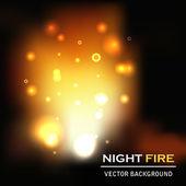 Noc ogień tło wektor — Wektor stockowy