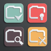 Vector Design folder icons for Web and Mobile — Stock Vector