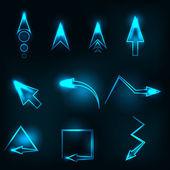 Blue abstract glowing arrows vector — Stockvektor