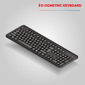Black 3d computer keyboard vector — Stock Vector
