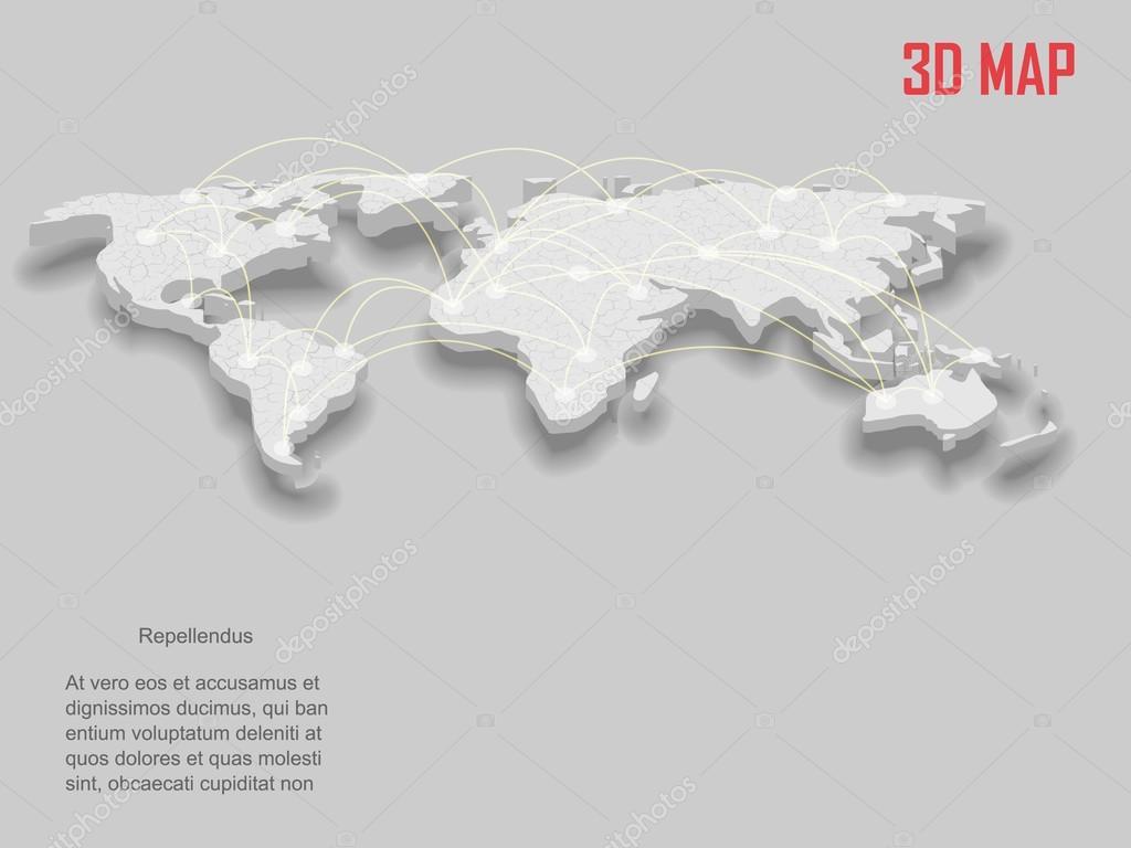 3d 矢量世界地图