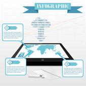Infografiki wektor — Wektor stockowy