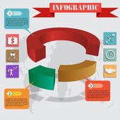 Infographics pie for web and mobile vector — Stock Vector