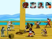 Pirate game concept vector — Stock Vector