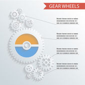 Abstract Gear Wheels Infographics Background Concept Design Illustration vector — Stock Vector